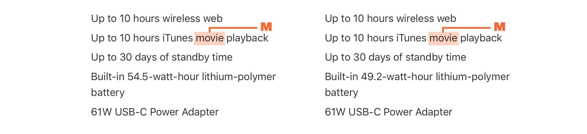 Macbook Pro バッテリーと電源(US)