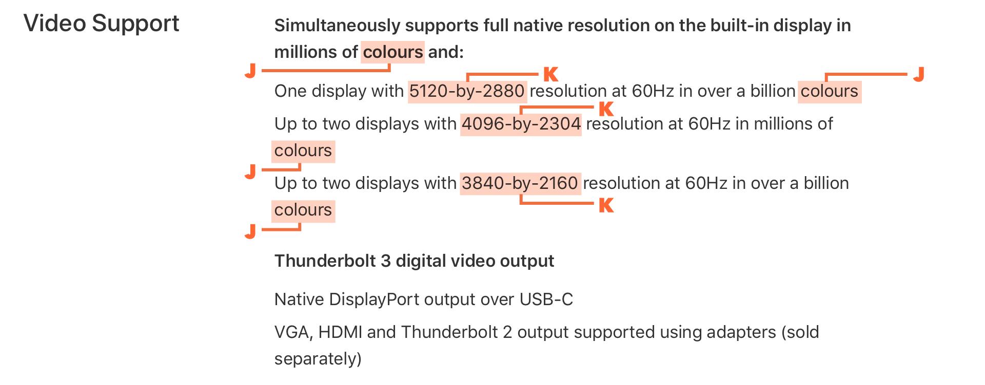 Macbook Pro ビデオサポート(オーストラリア)