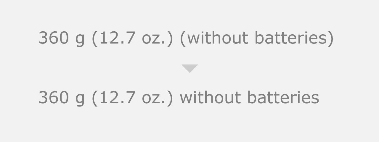 括弧:不要な括弧は使わない